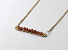 Garnet Candy Bar Necklace