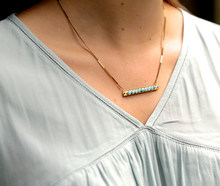 Blue Chalcedony Candy Bar Necklace