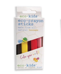beeswax eco-crayon sticks, 10 pack