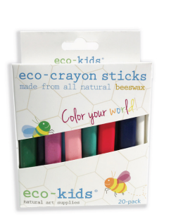beeswax eco-crayon sticks, 20 pack