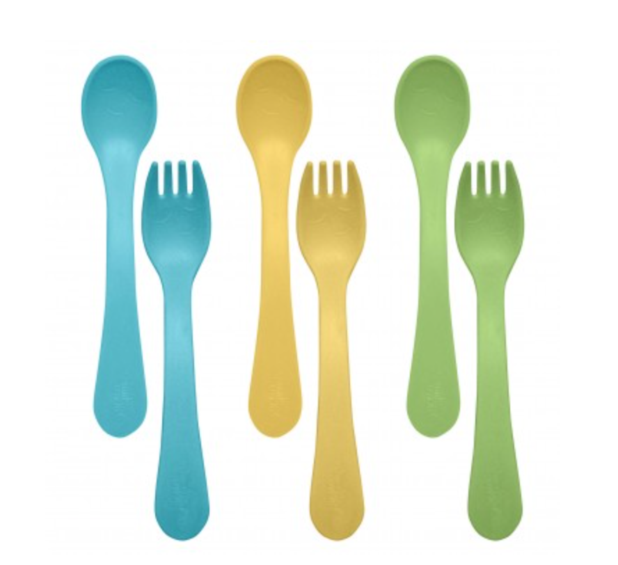 Feeding Spoon & Fork Set made from Plants, Set of 3