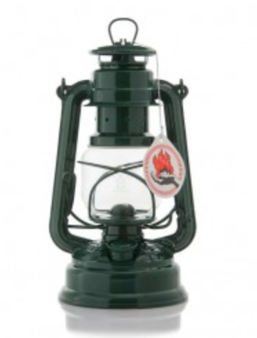 Moss Green Hurricane Oil Lantern. 10