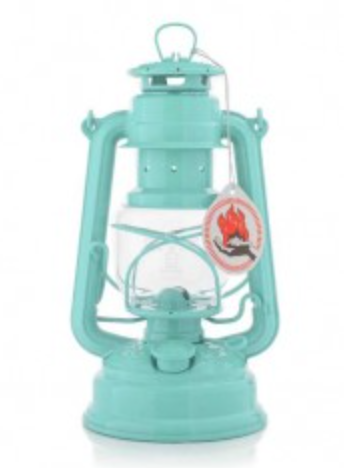 Pastel Green Hurricane Oil Lantern. 10