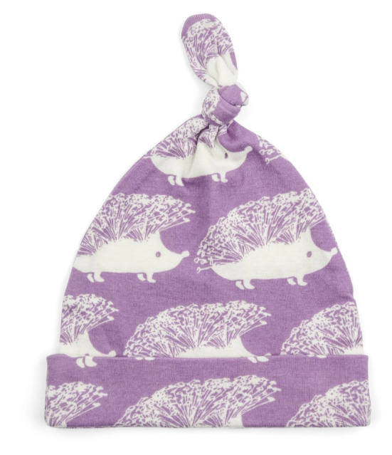 Organic Knotted Lavender Hedgehog Hat