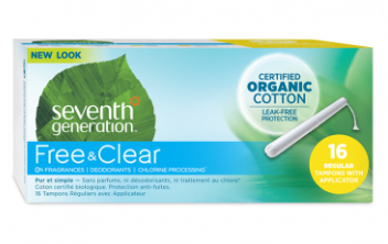 Seventh Generation Free & Clear Tampons, 16 Count