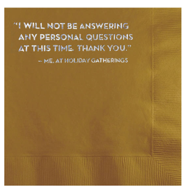 Personal Questions Cocktail Napkins