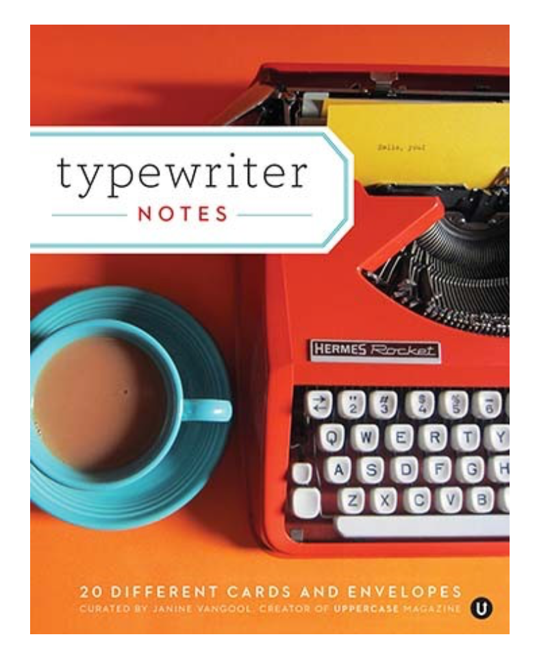 Typewriter Notecard Set
