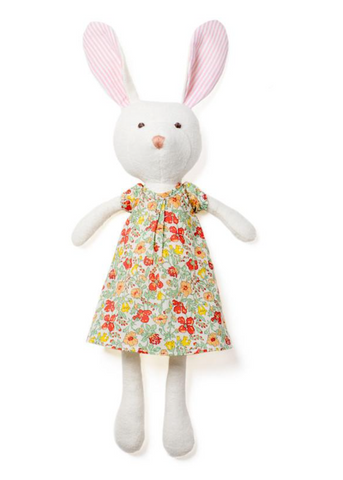 Emma Rabbit in Liberty of London Clover Dress