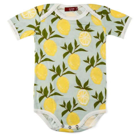 Blue Lemon Short Sleeve Onesie