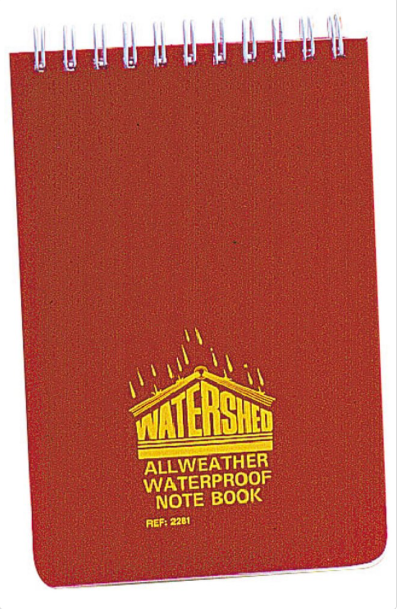 "Watershed All Weather Waterproof Notebook 6"" x 8"""
