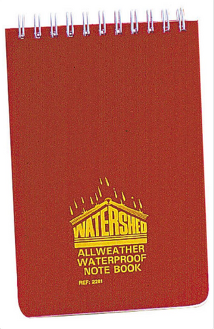 "Watershed All Weather Waterproof Notebook 4"" x 6"""