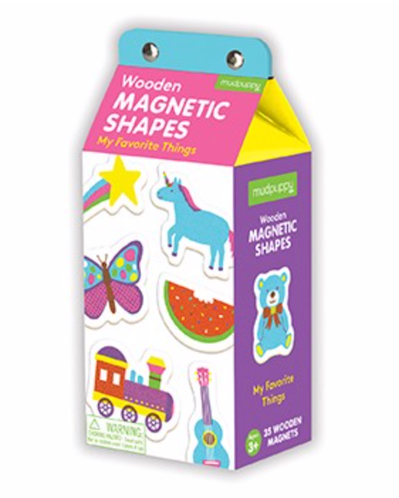 My Favorite Things Wood Magnetic Shapes