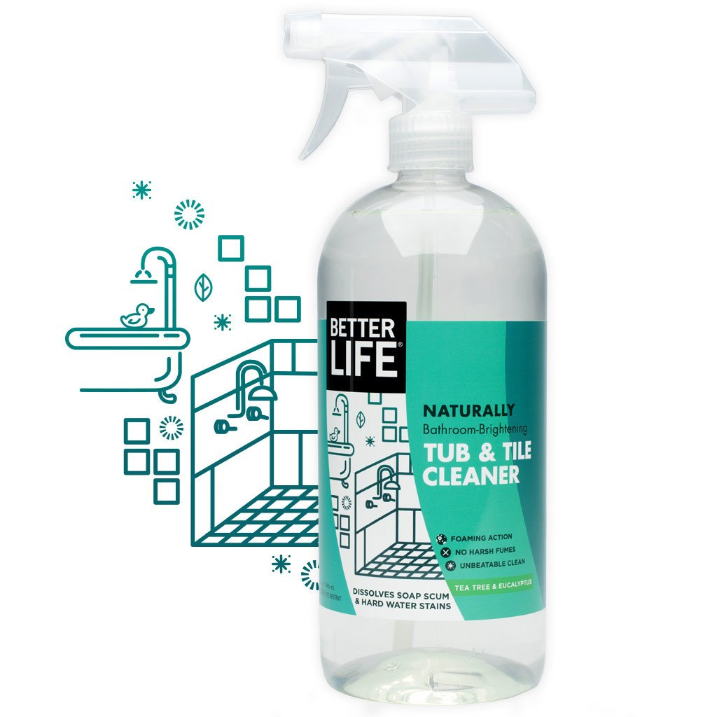 Naturally Bathroom-Brightening TUB AND TILE CLEANER, Tea Tree + Eucalyptus