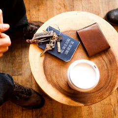 Franklin Navy + Brown/ Brown + Navy Wallet