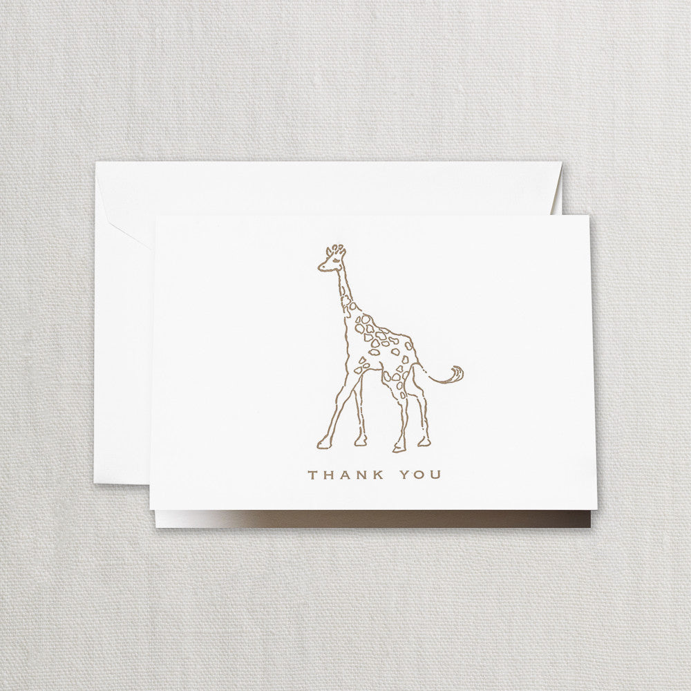 Giraffe Thank You Note Set