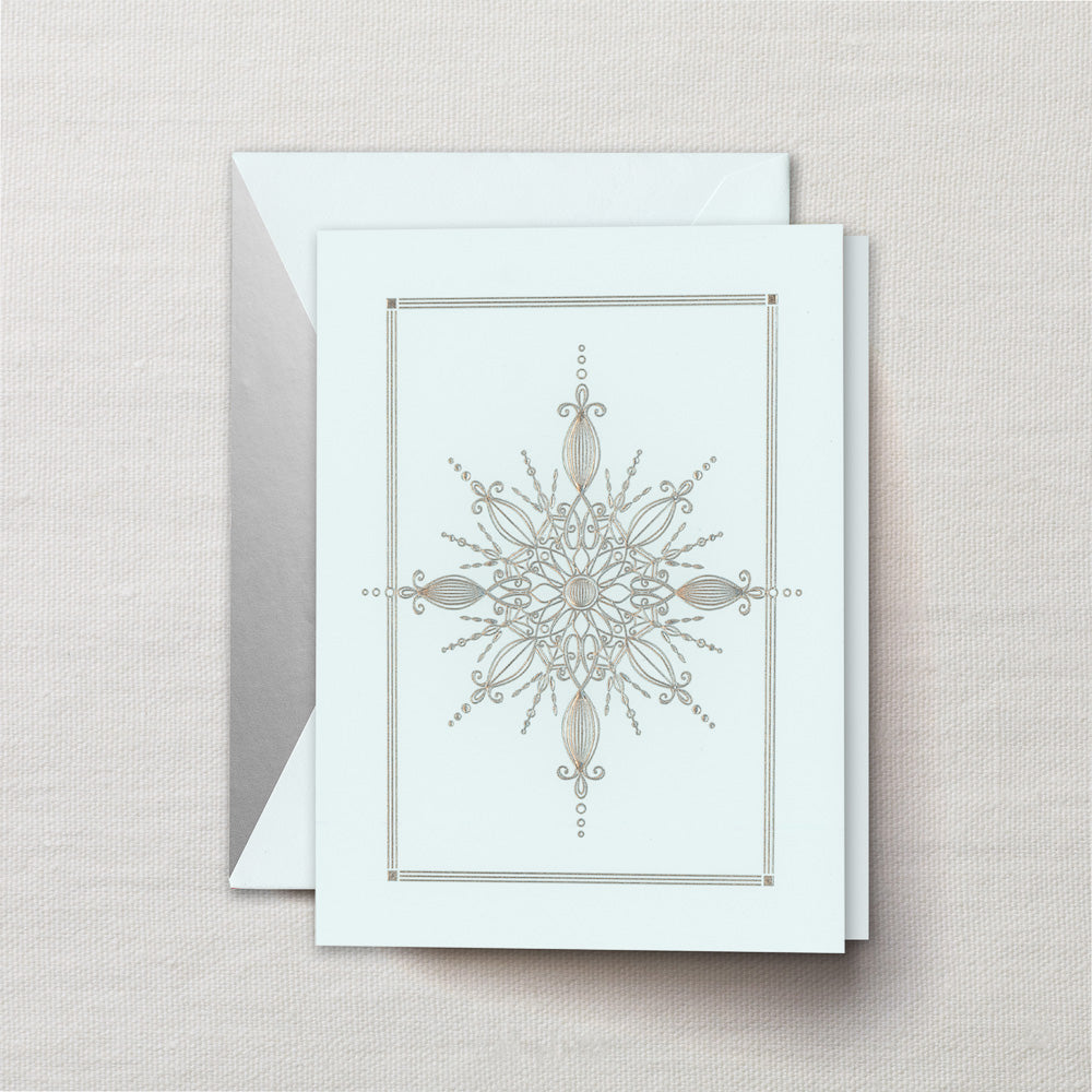 Engraved Snowflake Crystal Greeting Card