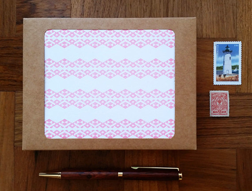Pink Geo Tribal Cards