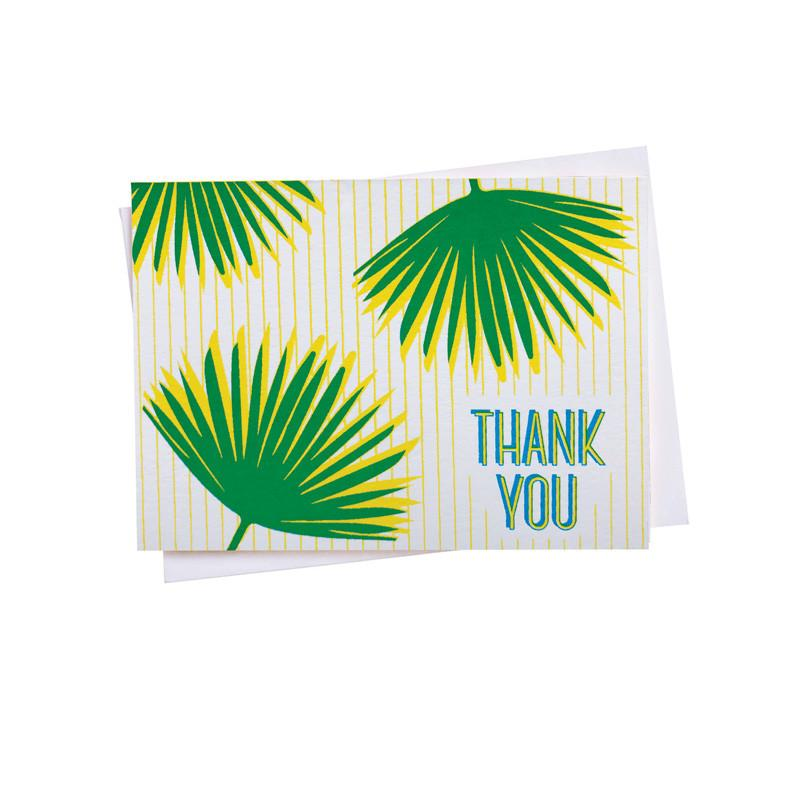 Thank You Palm Card Set of 6