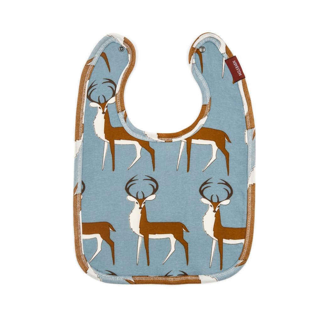 Organic Cotton Blue Buck Bib