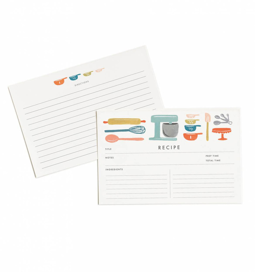 Baker's Recipe Cards