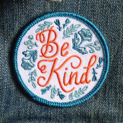 Be Kind Embroidered Patch