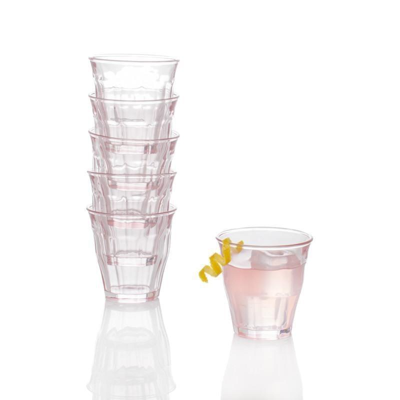 Bistro Glasses Pink, Set of 6