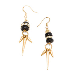 Black Spike Earrings
