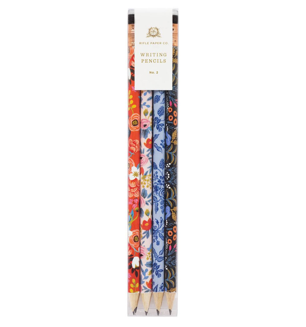 Writing Pencils, Floral or Folk