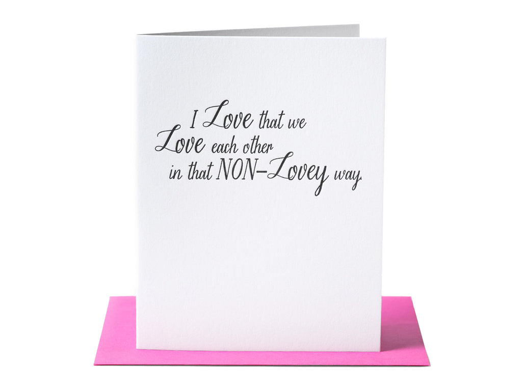 Non-Lovey Card
