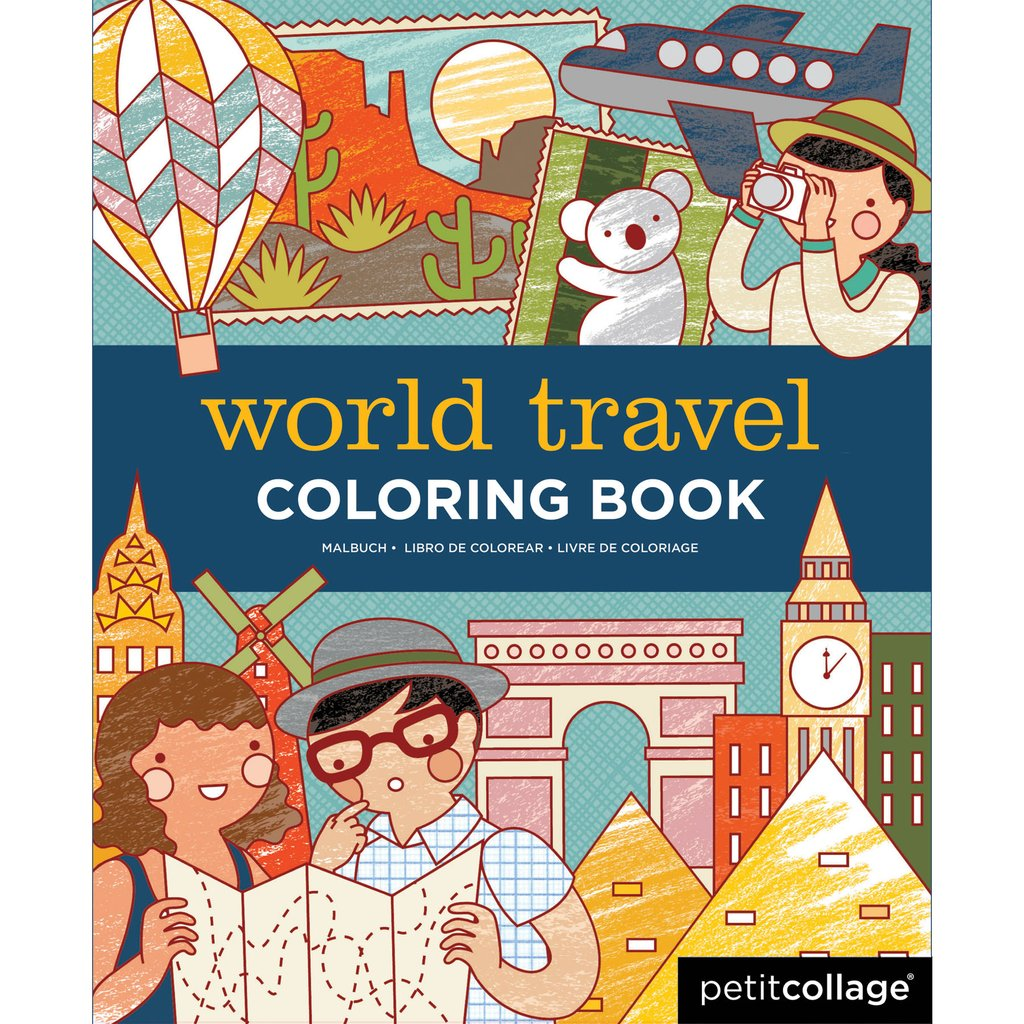 World Travel Coloring Book