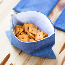 Linen Snack Bags, Natural or Blue