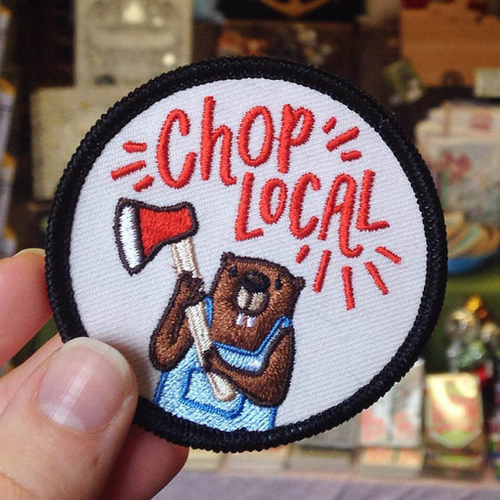 Chop Local Embroidered Patch
