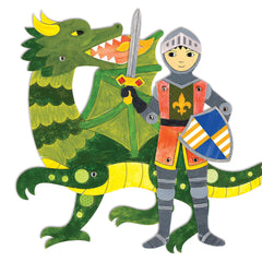Knight Adventures Articulated Paper Doll Chain Craft & Color