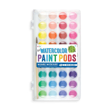 OOLY - Lil' Paint Pods Watercolor Paint - Set of 36