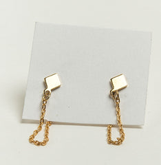 Small Diamond & Chain Earrings