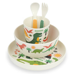 Dinosaurs 5pc Bamboo Dinnerware Set