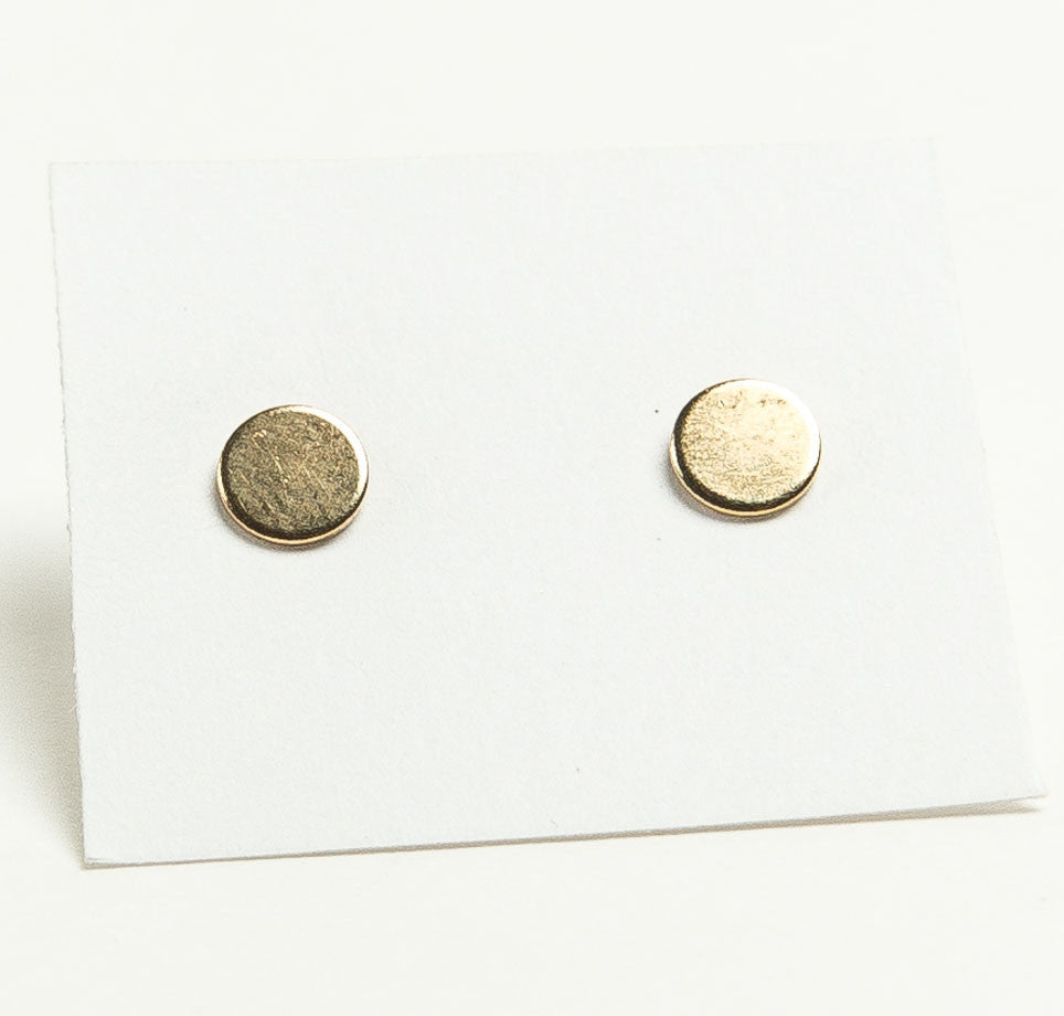 disc stud flat earrings pin