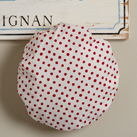 Red Polka Dot Shower Cap