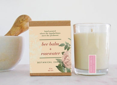 Bee Balm + Rosewater Candle