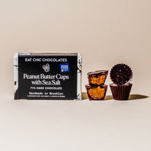 Vegan Dark Chocolate Peanut Butter Cups with Maldon Sea Salt - Box of Four