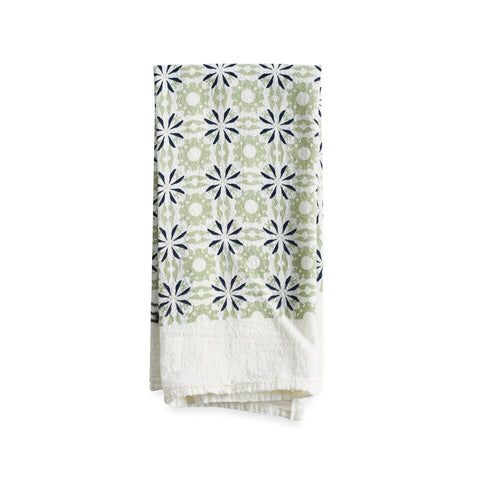 Woodblock Chicory Napkin, Mint