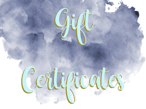 Gift Certificate. Gift Card.