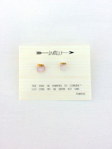 Gold Dipped Studs :: assorted stones