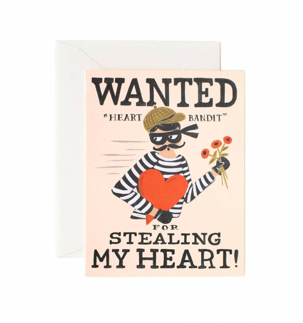 Heart Bandit Greeting Card