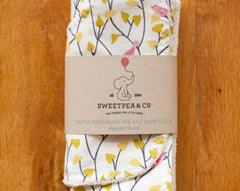 Organic Baby Bib and Burp Cloth Sets :: assorted prints
