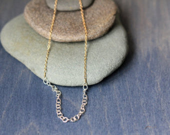 Mixed Metal Slip Necklace