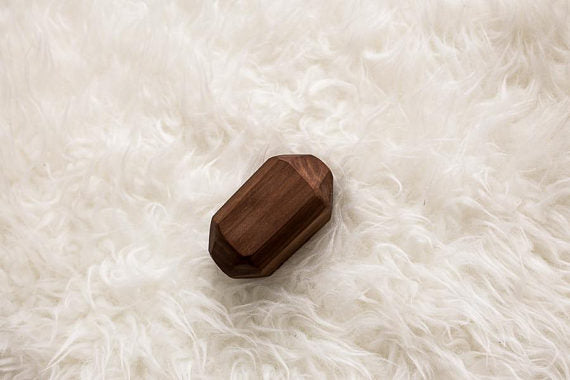 Walnut Geode Wooden Rattle