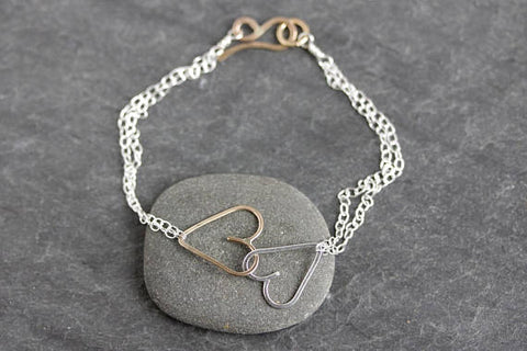 Hurricane Harvey Sideways Heart Bracelet