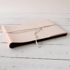 Handmade Blush Leather Guest Book