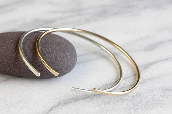 Simplicity Cuff Bracelet, Gold or Silver